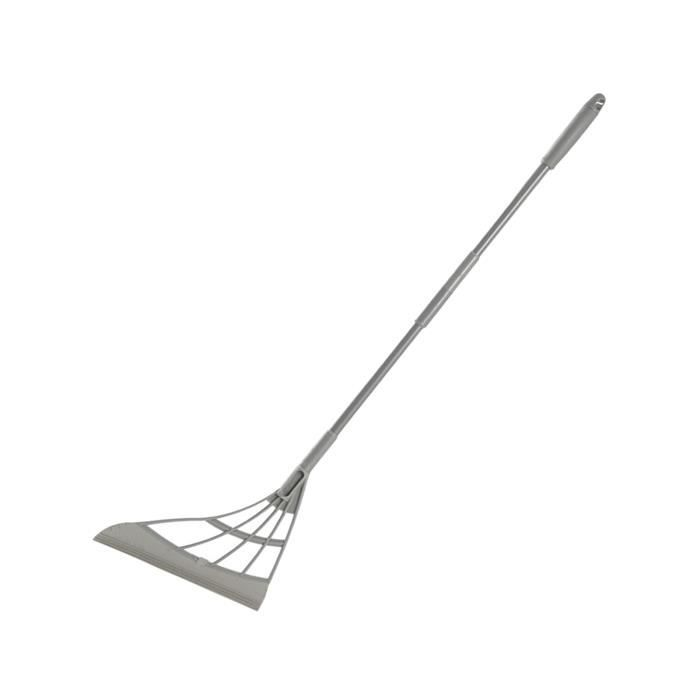 Essuie-glace Multifonction, Grattoir de Salle de Bain, Essuie-balai Antiadhésif Intérieur Domestique 2-en-1, Outil de gris