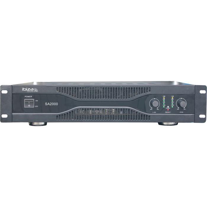 IBIZA SOUND SA2000 Amplificateur sono 2 x 1000w