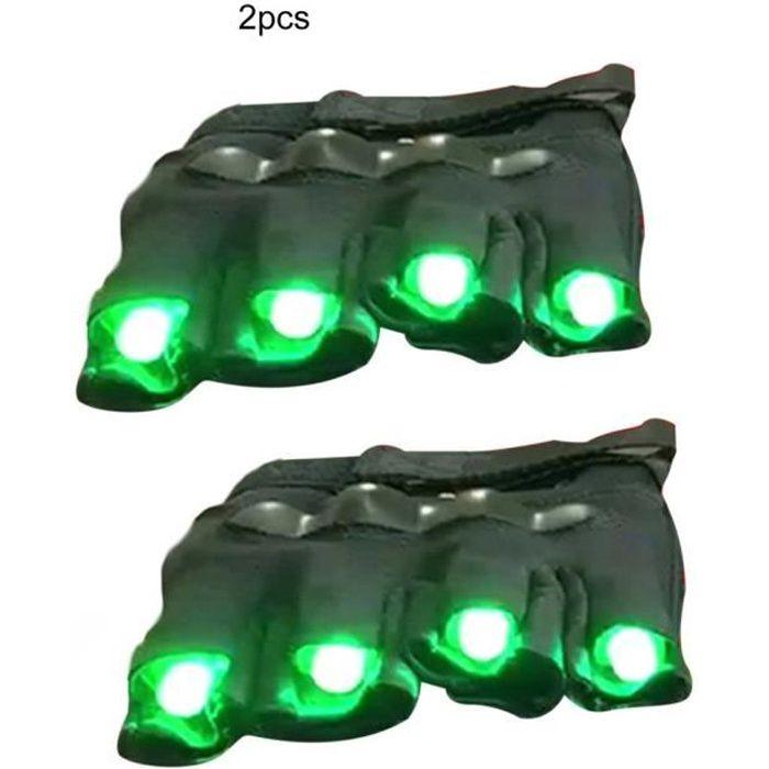 Gants laser Laser LED Gants lumineux Accessoires Performance Light, vert