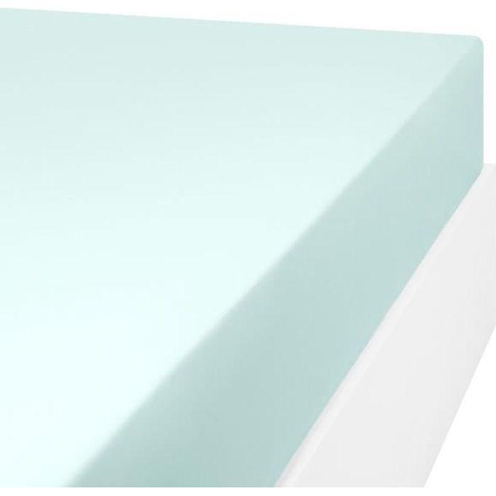 LINANDELLE - Drap housse en mélange 57 fils AISANCE - Vert clair - 110x190 cm