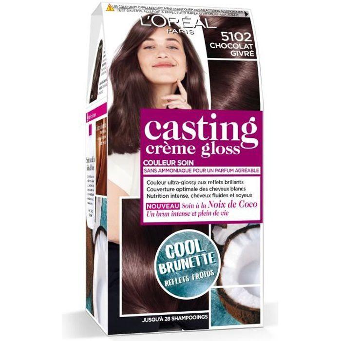 L'OREAL PARIS Kit de Coloration Casting Crème Gloss Cool Brunette - 5102 Chocolat givré