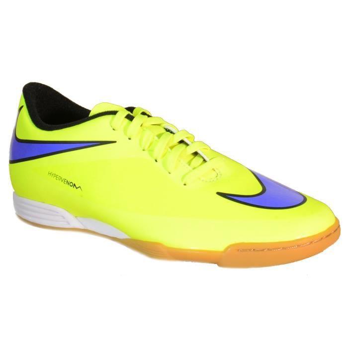 Nike Hypervenom Phade Ic Chaussures de Football Indoor pour Homme Jaune Cuir 599810
