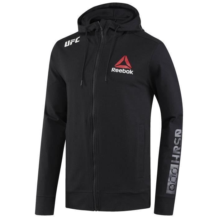 Sweatshirt à capuche zippé Reebok UFC FK Blank