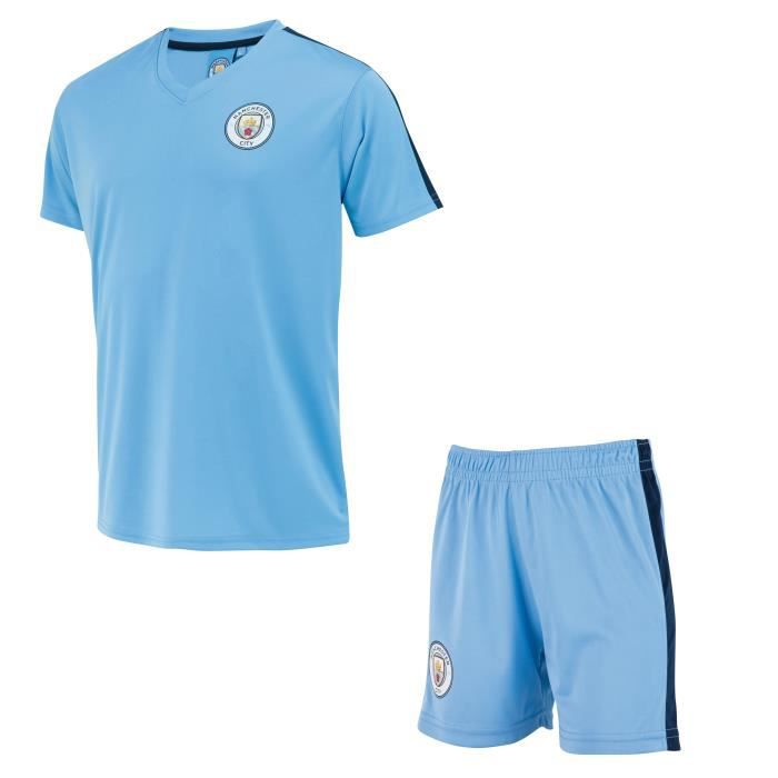 Ensemble Maillot + short MANCHESTER CITY - Collection officielle - Taille enfant garçon 6 ans