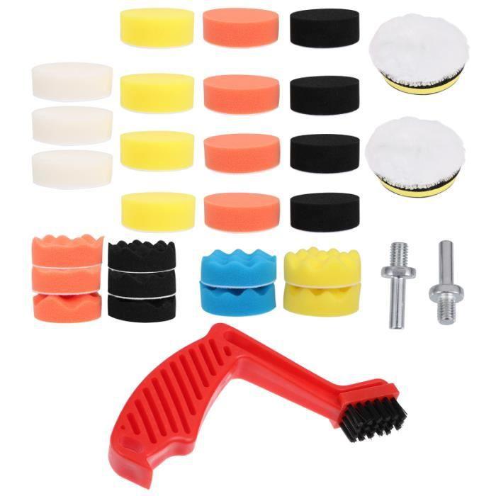 32 pièces polisseur tampon de polissage éponge de de lavage de voiture équipement d'épilation à la cire LUSTREUSE - POLISHEUSE