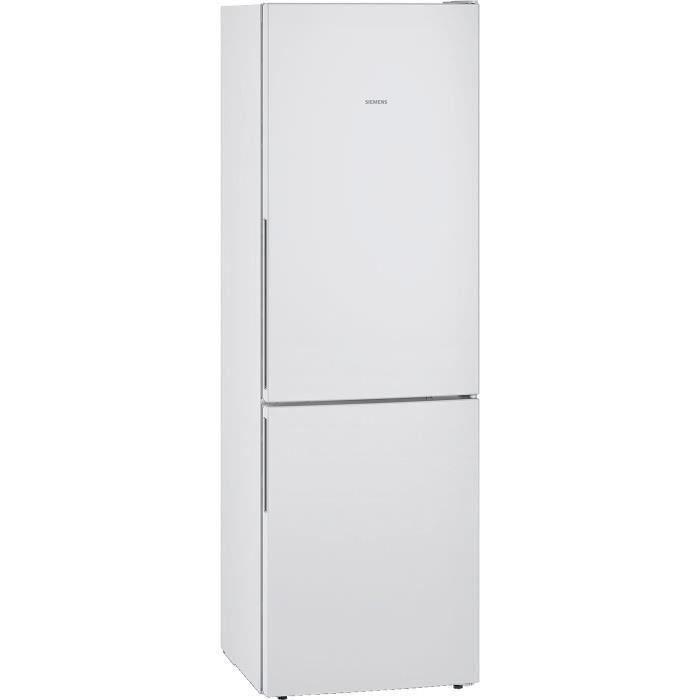 SIEMENS KG36V6WEAS - Réfrigérateur congélateur bas - 309L (215+94) - Froid brassé - L 60cm x H 186cm - Blanc