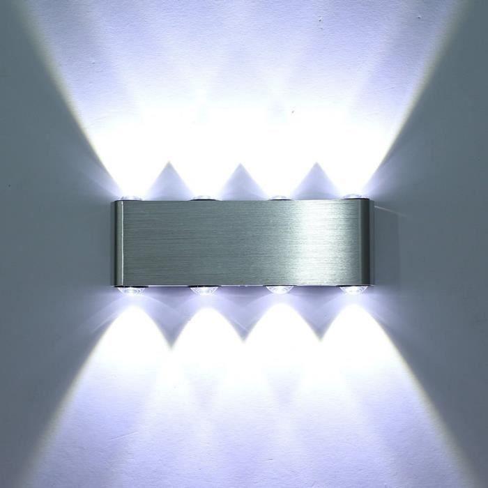 Applique Murale LED - 8 Ampoules - Intérieur