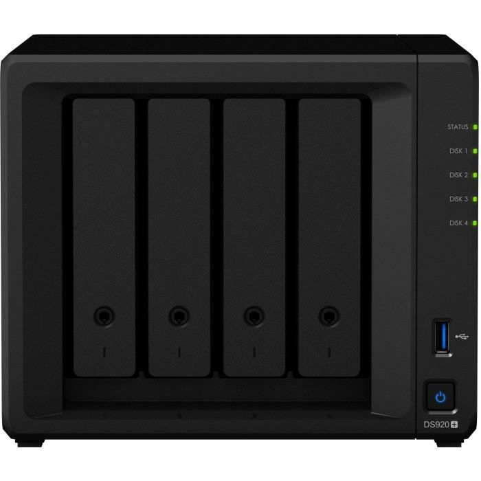 SYNOLOGY - Serveur de Stockage (NAS) - DS920+ - 4 Baies - Boitier nu