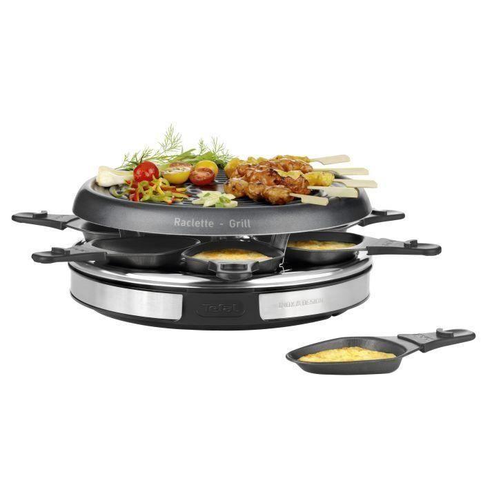 TEFAL RE127812 Appareil à raclette Inox&Design 6 personnes - Inox