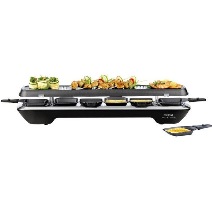 TEFAL RE522812 Appareil à raclette Inox&Design 6 personnes - Noir