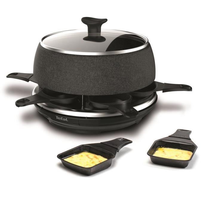TEFAL RE12C801 Cheese'N'Co Appareil à Raclette, Fondue, Tartiflette, Crêpes, Plancha, 6 pers, Antiadhésif, Set d'accessoires complet