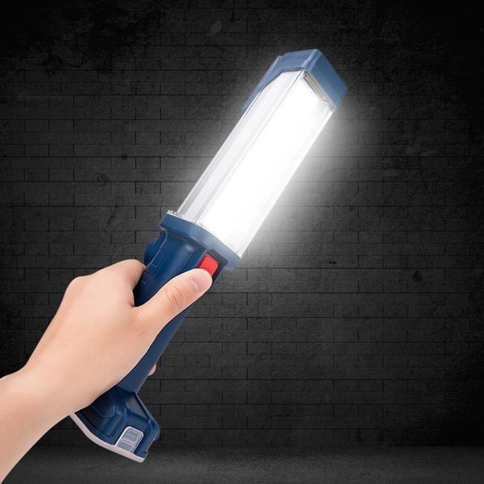 LAMPE DE POCHE COB USB LED travail magnétique Lumière Garage Méca