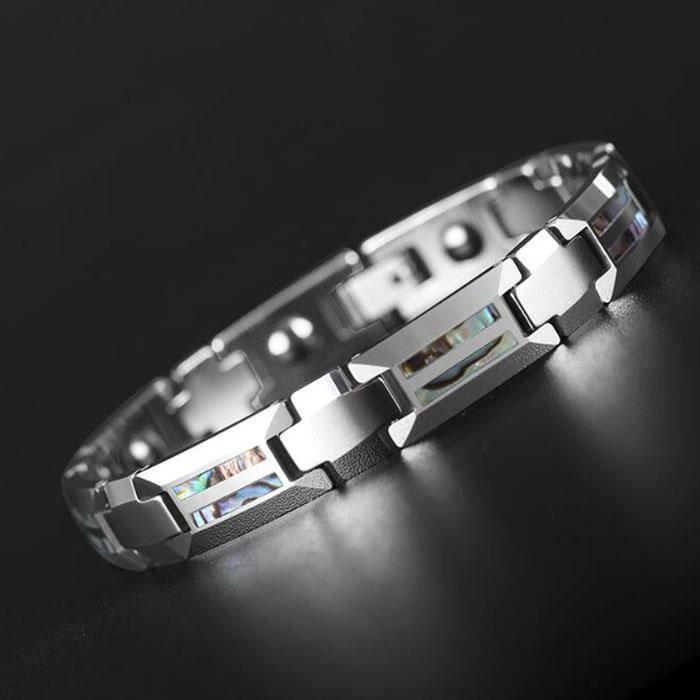 """Hommes Noir Céramique Bracelet Aimants Chaîne Bracelet Anniversaire Mariage Anniversaire 8/"""""""