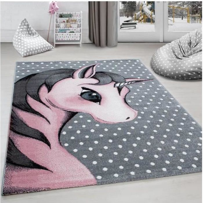 Grand Tapis Enfant Licorne