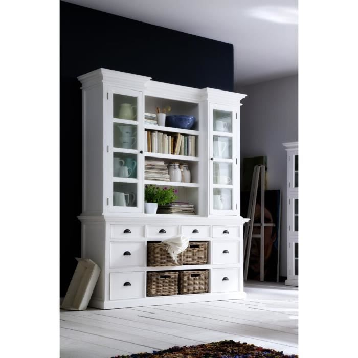 biblioth que en bois blanc cygne meuble house achat vente biblioth que biblioth que en. Black Bedroom Furniture Sets. Home Design Ideas