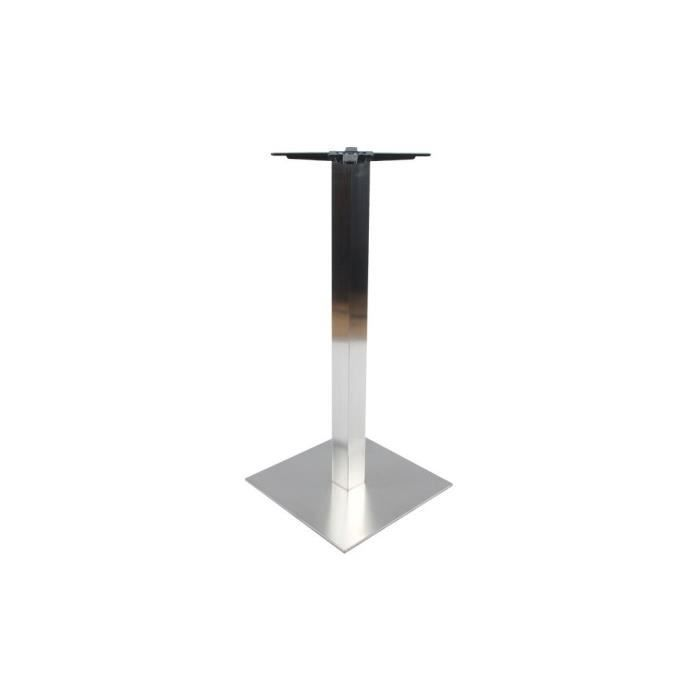 Pied de table vana chrome gris argent achat vente pied for Table un pied