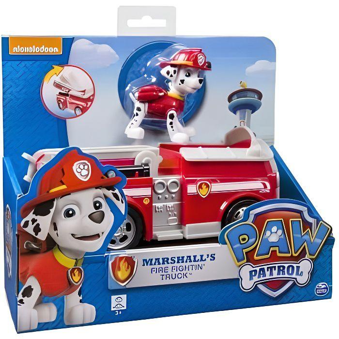 CAMION ENFANT Pat Patrouille : Camion De Pompier Rouge + Chien M