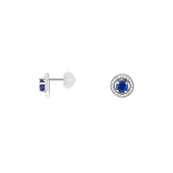 Boucle d'oreille CLEOR Boucles oreilles Or 750-1000 Saphir - Z01464