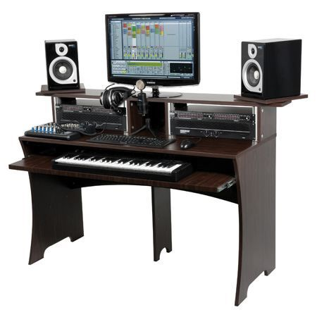 glorious dj workbench walnut mobilier de studio mobilier home studio prix pas cher cdiscount. Black Bedroom Furniture Sets. Home Design Ideas
