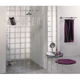rideau de douche 180x200 cm transparent achat vente rideau de douche cdiscount. Black Bedroom Furniture Sets. Home Design Ideas