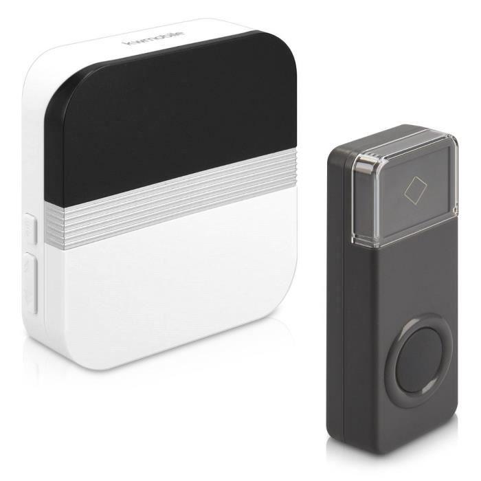 Sans fil Sonnette de porte maison porte d/'entrée de sécurité sonnette 1 émetteur 2 Récepteur