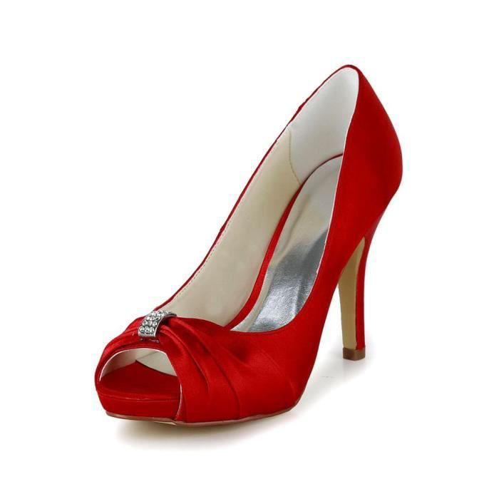 Chaussures Jia rouges femme