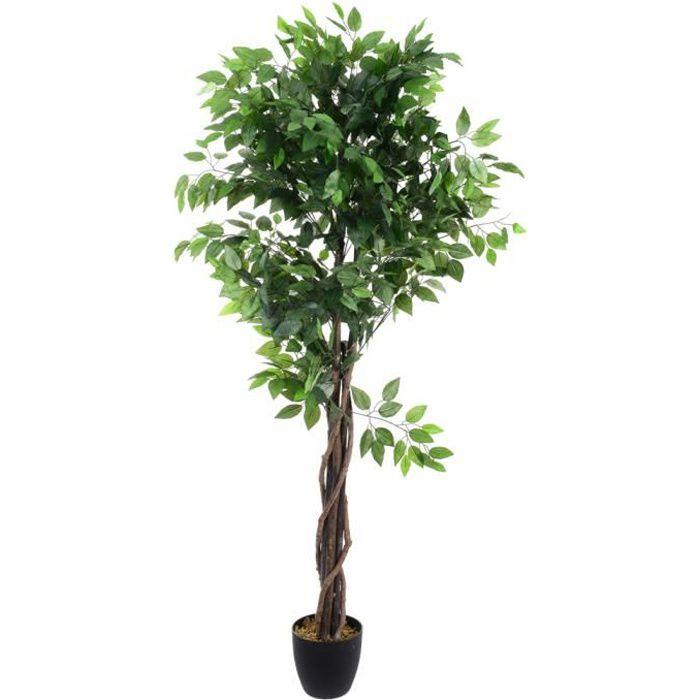 FLEUR ARTIFICIELLE FICUS Plante artificielle - Avec pot - H180 cm