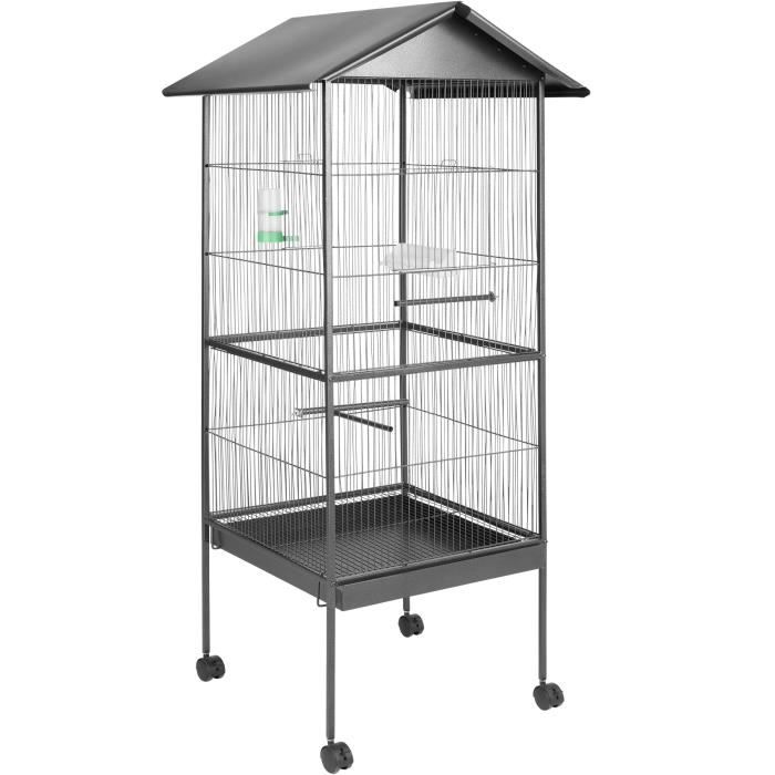 grande cage oiseaux achat vente grande cage oiseaux pas cher cdiscount. Black Bedroom Furniture Sets. Home Design Ideas