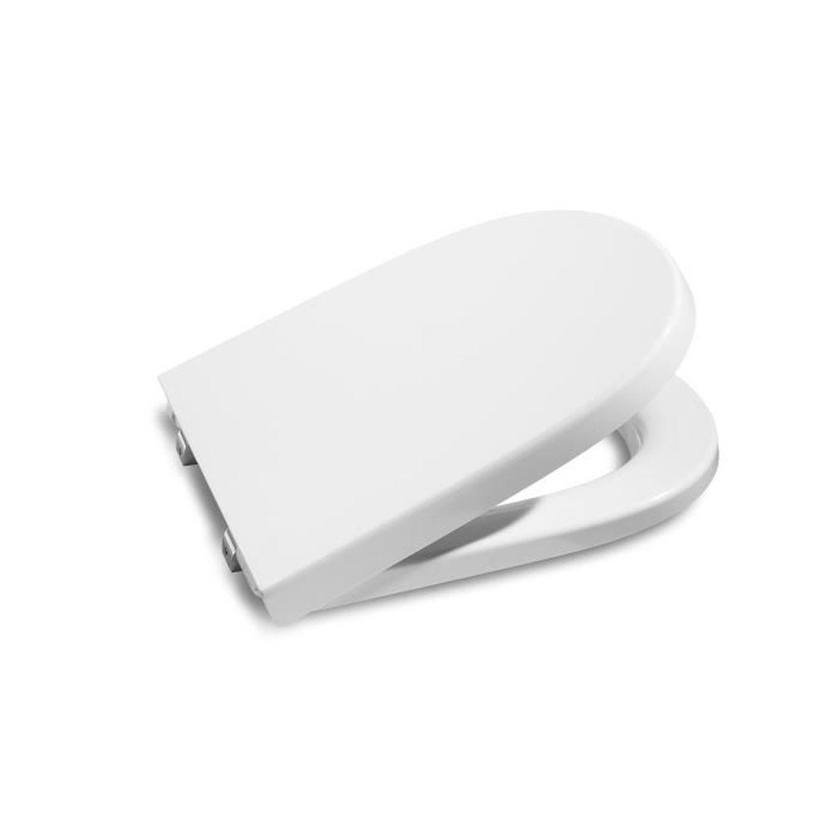 Adob 69564/polsi Abattant de WC rembourr/é avec charni/ères en acier inoxydable Noir