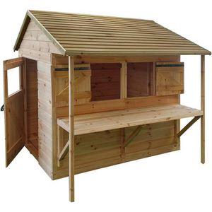 MAISONNETTE EXTÉRIEURE Cabane en bois Athol pour enfant  LEONTINE