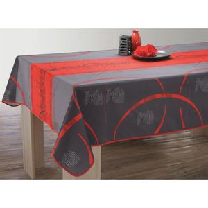 nappe gris et rouge achat vente nappe gris et rouge. Black Bedroom Furniture Sets. Home Design Ideas