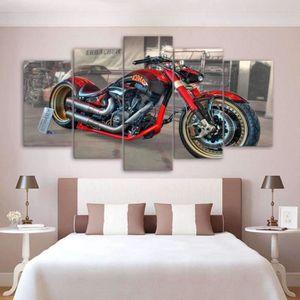 TABLEAU - TOILE Tableaux en canvas imprimé Moto custom120091879997