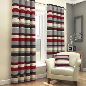 RIDEAU Tony's Textiles - Paire de rideaux doublés - rayur