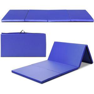 TAPIS DE SOL FITNESS Tapis de Gymnastique Pliable 240 x 120 x 5 cm Mate