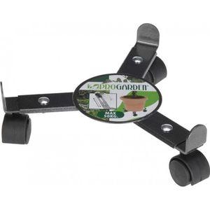 JARDINIÈRE - BAC A FLEUR Support à roulette ajustable pour pot - Metal - Pr