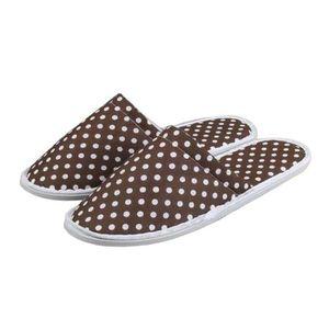 CHAUSSON - PANTOUFLE [café] 10 paires de pantoufles jetables Chaussons