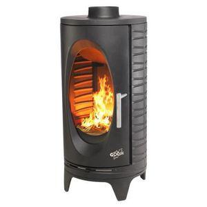 POÊLE À BOIS Poêle à bois fonte 7kw noir - 420011 Godin