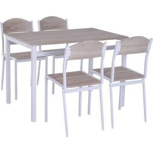 TABLE DE CUISINE  Table de salle à manger avec 4 chaises style conte