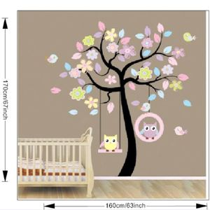 stickers muraux arbre achat vente stickers muraux arbre pas cher cdiscount. Black Bedroom Furniture Sets. Home Design Ideas