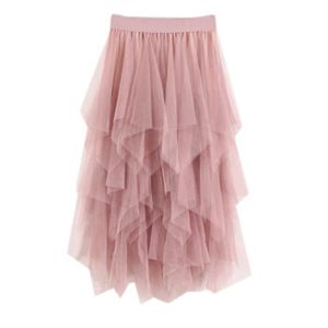 JUPE Femmes Casual confortable Tulle taille haute pliss