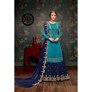 ROBE Lehenga choli sari bleu vert hurma robe indienne b