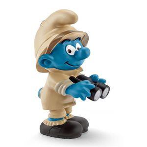 FIGURINE - PERSONNAGE SCHLEICH 20781 Figurine Schtroumpf De La Jungle, O