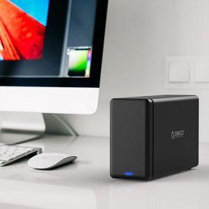 HOUSSE DISQUE DUR EXT. Boîtier disque dur 3.5 pouces 2-bay USB-C type C 3