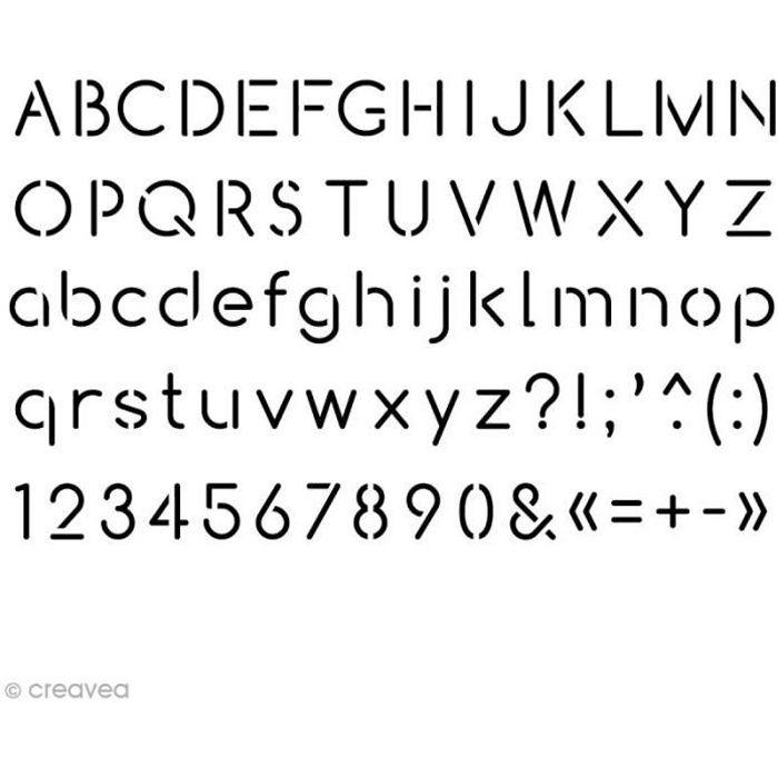 Pochoir home déco 10 x 15 cm - Alphabet Arial Stencil ou pochoir Artemio pour home déco, A utiliser avec toutes sortes de