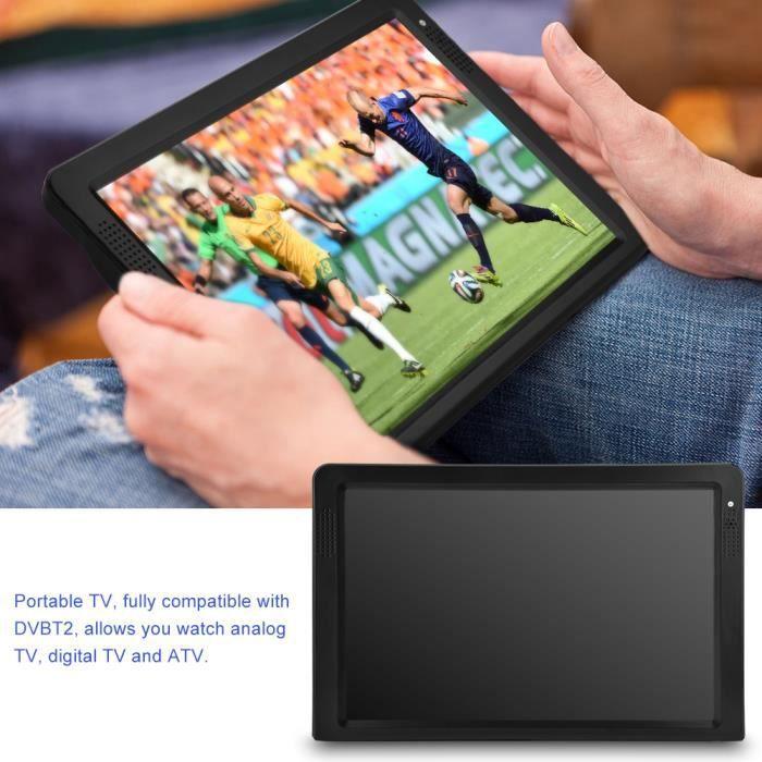 12.1 Pouces Mini Portable TV Lecteur Rechargeable Digital TFT-LED Écran