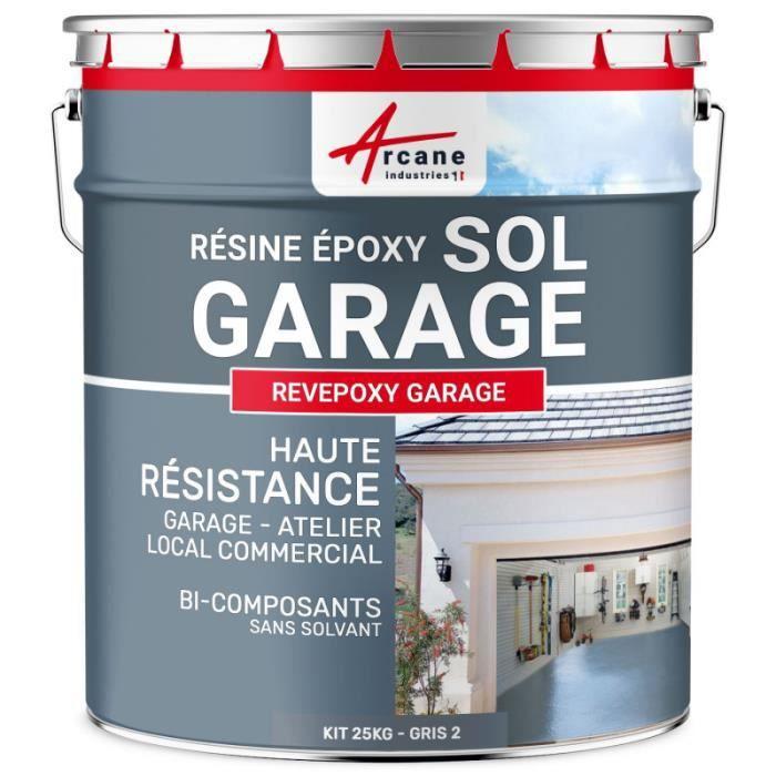 Peinture Époxyde Sol Garage - Gris 2 ral 7046 - kit 5 Kg (couvre jusqu'à 16m² pour 2 couches)