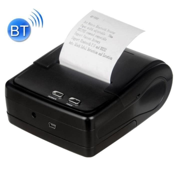 Imprimante Qs 5802 Portable 58mm Bluetooth Receipt 8 broches Matrix Printer