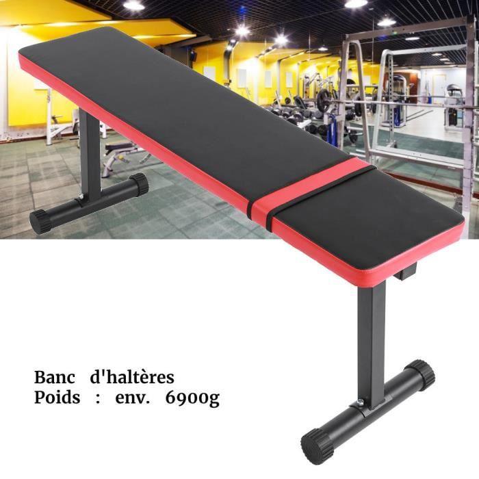 PET-80-Banc Haltérophilie Plat pour Musculation - Multi Functional Sit Up Fitness Bench Tabouret De Remise en Forme