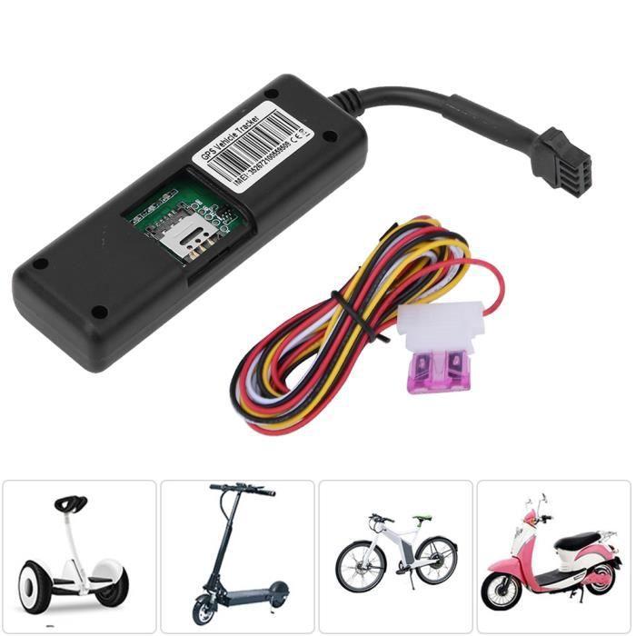 AYNEFY Dispositif GPS de scooter Dispositif traceur GPS avec système de surveillance en temps réel pour accessoires de scooter