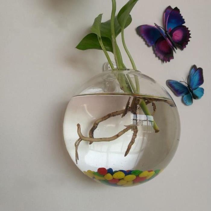 Aquarium,Aquarium mural en acrylique suspendu pour poissons, Vase à plantes, fleurs, Betta, décoration de la maison - Type B